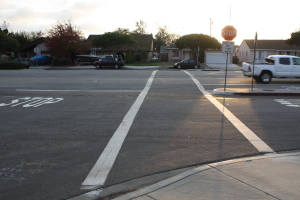 Unsafe school crosswalk at Anza and Marrot intersection