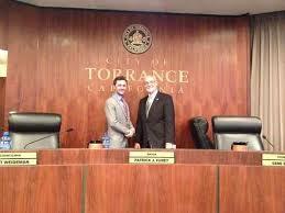 Mayor Furey and son Patrick Furey, Jr. (photo taken from Daily Breeze)